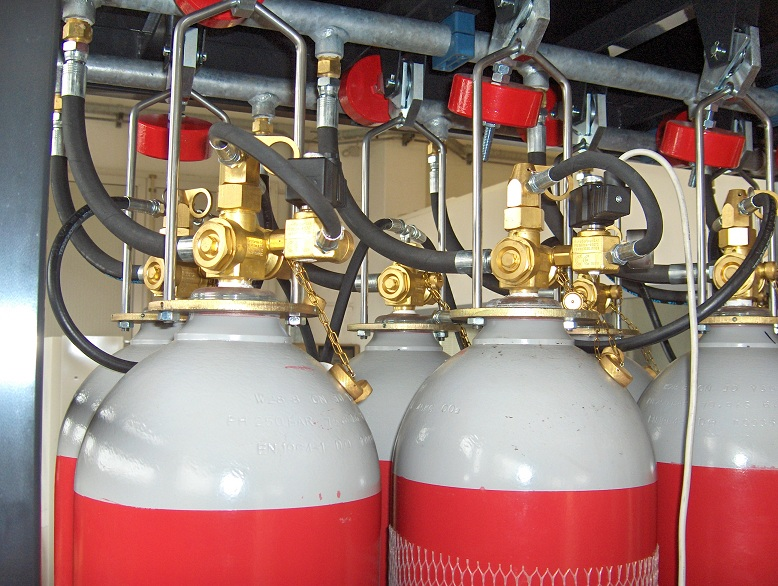 Co2 High Pressure Gas Extinguishing System Eurogardian Fire Suppression Protection System Produtcion